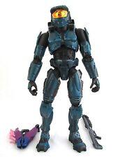 "Halo 2 Blue Spartan w/ Needler & Shotgun 8"" Joyride Series 5 Action Figure Loose"