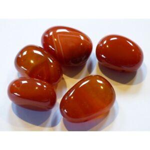 Carnelian Drilled Tumble Stone (UK based crystal shop, stock & shipping)