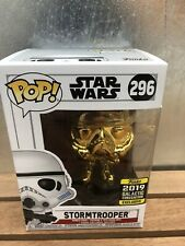 Funko Pop Chrome Stormtrooper #296 Galactic Convention Exclusive