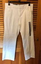 JM Collection Petite Straight-Leg  Bright White 16P NWT