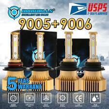 Combo 9005+9006 LED Headlight Bulbs Kit Hi/Low Lamp White 6000K 5000W 750000LM