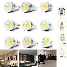 MR16/E27/GU10/E14 COB 6/9/12W LED Downlight Spotlight Bulb Light 85-265V 120°