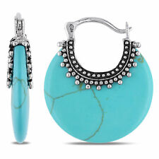 Amour Sterling Silver Turquoise Earrings
