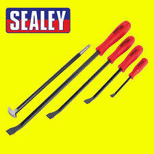 Sealey Steel Heavy Duty Prybar/Crow Bar/Lever/Heelbar Set 5pc - AK20641