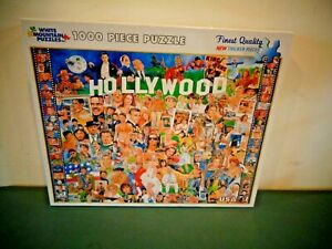 WHITE MOUNTAIN HOLLYWOOD MOVIE STARS 1000 PC JIGSAW PUZZLE FACTORY SEALED