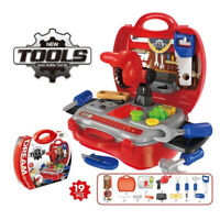 Children Kids 19pcs Drill Tool Box Set DIY Builders Building Construction Toys