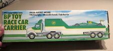 1993 BP OIL Toy Race Car Carrier Truck w. Race Car  - New, Never Displayed MINT!