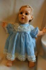 1985 Hasbro Real Baby Doll -J Turner-Blond ,Blue Eyes-Light Blue Dress/Lace-SALE