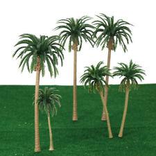 15pcs Miniature Scenery Layout Model Plastic Tree Palm Trees Train Coconut M0L3