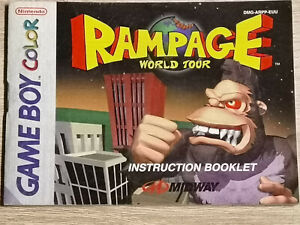 Rampage Game Boy Gameboy Color (Manual Only)