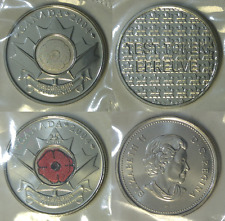 2004 Canada 25 Cents Test Token and Poppy