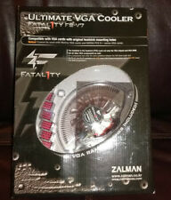 Zalman Ultimate VGA Cooler Fatal1ty FS-V7 RED LED Fit 80mm Mounting Holes NEW