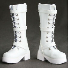 [PF] 16# White 1/4 MSD DZ DOD BJD Dollfie Synthetic Leather Boots / Shoes