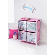 New Stunning Kids Sequin 4 Drawer Chest - Add Class To Your Child's Play Room