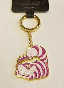 Loungefly Disney Alice in Wonderland Cheshire Cat Key Chain NEW