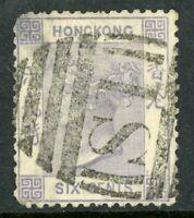 China 1863 Hong Kong 6¢ Watermark CCC QV SG #10 VFU H93 ⭐⭐⭐⭐⭐⭐