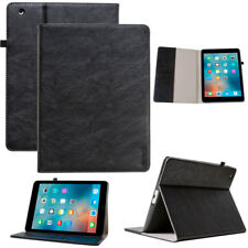 Leder Cover für Apple iPad 2/3/4 Schutz Hülle Tasche Tablet Smart Case schwarz