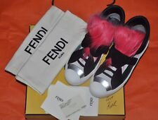 Authentic New Women's FENDI Karlito Fur Sneakers,EU39