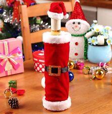 Christmas Xmas Santa Claus Wine Bottle Cover Decor Bag Dinner Party Table Decor