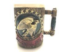 Vintage Colonial Inn Hotel Mug with Eagle Design Handmade Brown