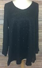 Women's Alfani Black Long Sleeve Top Sequin Large NWTs