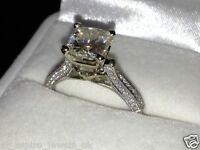 2.30 CT ROUND BRILLIANT CUT SOLITAIRE  ENGAGEMENT RING SOLID 14Ct WHITE GOLD