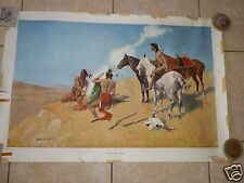 FREDERIC REMINGTON Vintage Collograph THE SMOKE SIGNAL