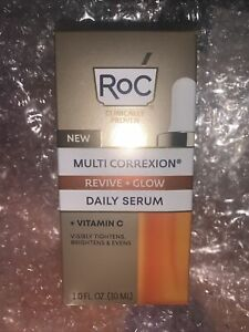 NIP NEW RoC Multi Correxion Revive+glow Vitamin C Daily Serum 1 Ounce