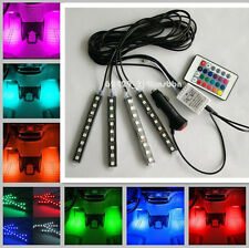 Full Color LED Glow Interior Car Kit Under Dash Foot Floor Seats Accent Light