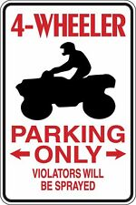 4 Wheeler Parking Only Funny Novelty Stickers JDM Euro Sma SM1-497