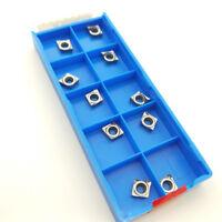10pcs CCGT060208-AK H01 CCGT21.52 for Aluminum inserts Silver Lathe cutting tool