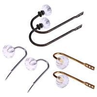 2xCrystal Glass Curtain Holdback Wall Tie Back Hook Hanger Holder Drawer Handles