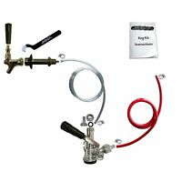 Add A Tap Draft Beer Kegerator Conversion Kit Faucet & Sanke D Coupler w/ Hoses