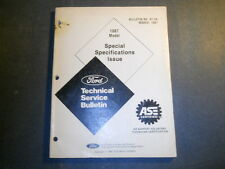 1987 Ford Car & Truck Technical Service Bulletin Special Specifications Issue