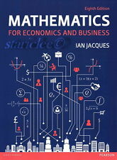 NEW Mathematics for Economics and Business 8E Ian Jacques 8th US Soft Edition