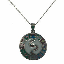 Serpiente Experto Aztec Snake Serpent Knowledge Talisman Pendant Necklace AZ07