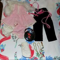 """VINTAGE OUTFITS Accessories for 17"""" Madame Alexander Elise DOLL Bag Jewelry Boa"""