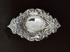 pin dish for trinkets Victorian solid silver hallmarked shaped