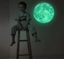 Glow In The Dark Luminous 3D Stars Moon Sticker Home Wall Room Decor DIY