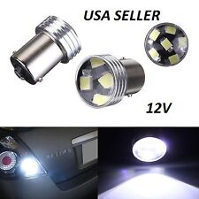 10 x White 1156 BA15S 6 SMD 2835 LED Turn Signal Rear/Light Bulb LampBulb DC 12V