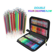 121Pc Gel Pens Glitter Marker Pen Set for Adult Coloring Books Art Paitning Tool
