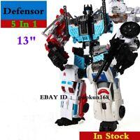 "New In Stock Deformabl Robot Defensor G1 HZX 5 In 1 Action Figure IDW KO 13"" Toy"
