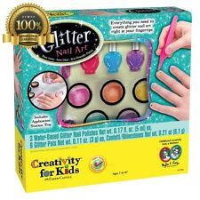 Creativity Kids Glitter Nail Art Colorful Kit Perfect Girls Gift Easy Clean-Up