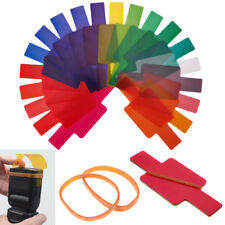 20 Stück Farbfolien Farbfilter Filter Set Gel Filte Blitz für DSLR Kamera
