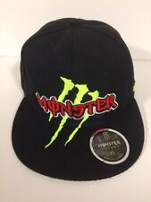 Genuine Monster Energy Snapback Size 7 1/8 Black With Green & Red Logo - Used