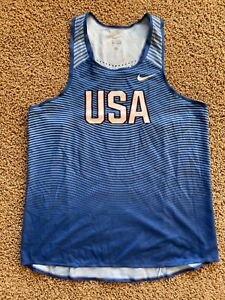 Nike elite singlet mens Large USA olympic singlet, not tight no spandex version