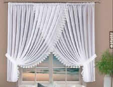 Stunning Voile Net Curtain with Great  Lace, Home Window Decorations Ready made