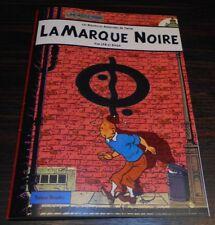 RARE TINTIN LA MARQUE NOIRE EN COULEUR  PARODIE 30X20