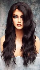 LACE FRONT HAND TIED EAR 2 EAR LACE HEAT FRIENDLY #1B SOFT BLACK WIG US SELL 454
