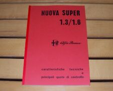 Alfa Romeo Giulia Nuova Super 1.3 - 1.6 Manuale officina workshop manual-